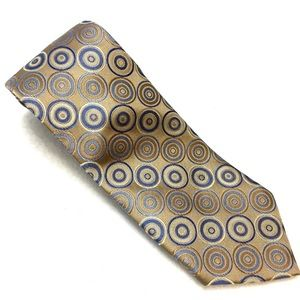 Michael Kors Mens Silk Tie Biege Blue Cream 3.5X57